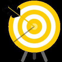 Pictogramme représentant une cible