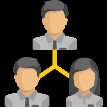 Picto représentant un triangle de 3 personnes
